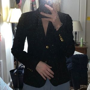 JCRew black schoolboy blazer